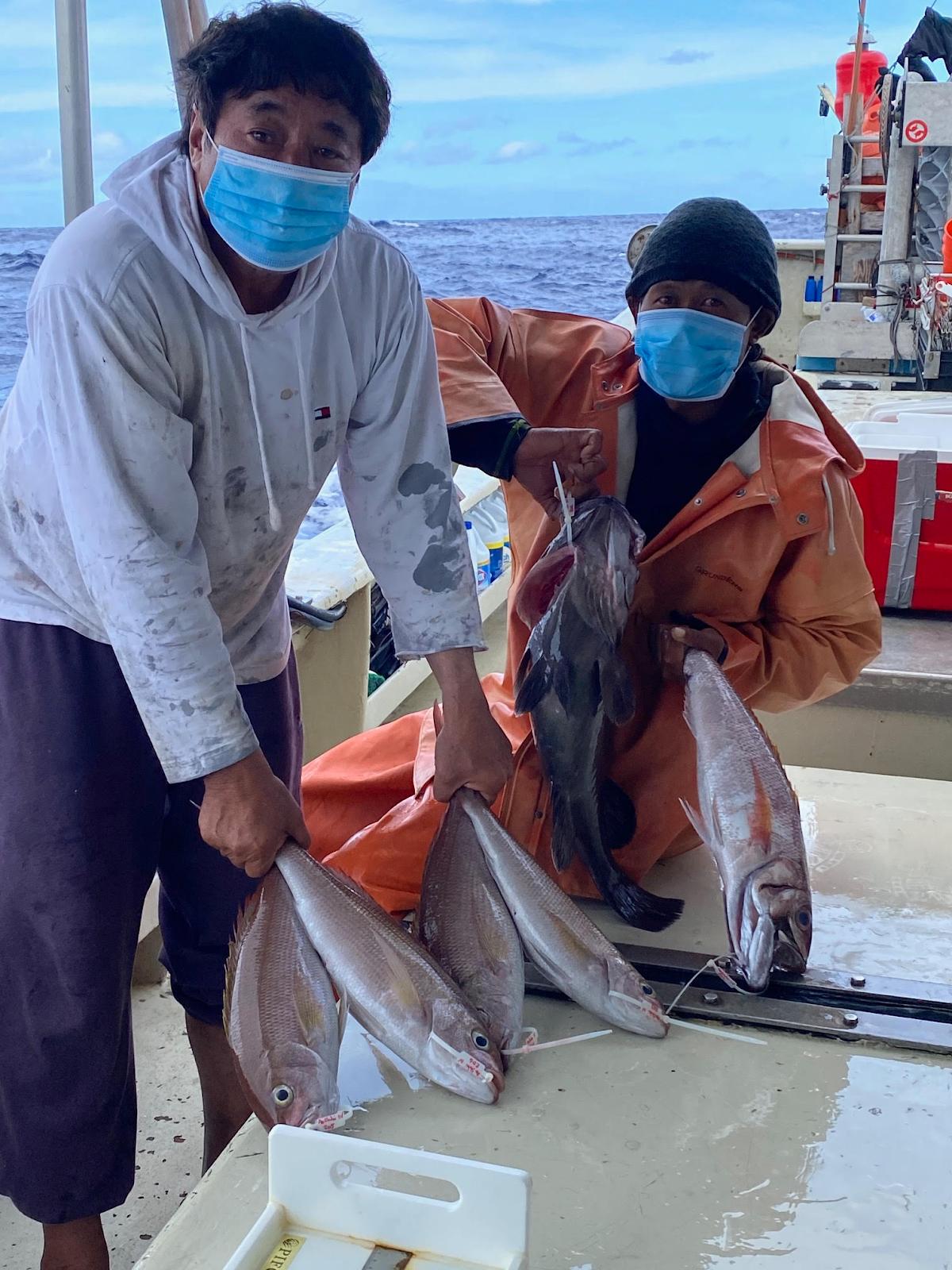 Cooperative Research Fishers aboard FV Ao Shibi IV off Hawaii Island.