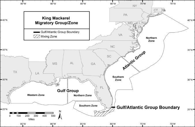 Gulf of mexico king mackerel map