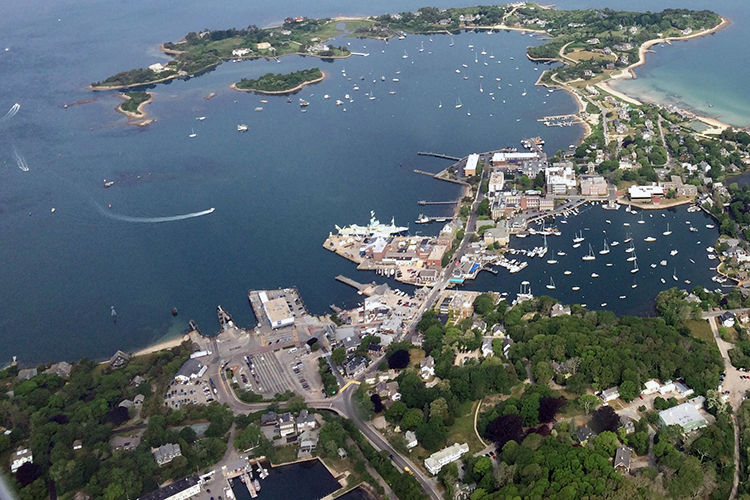Ariel view of Woods Hole from 2015.