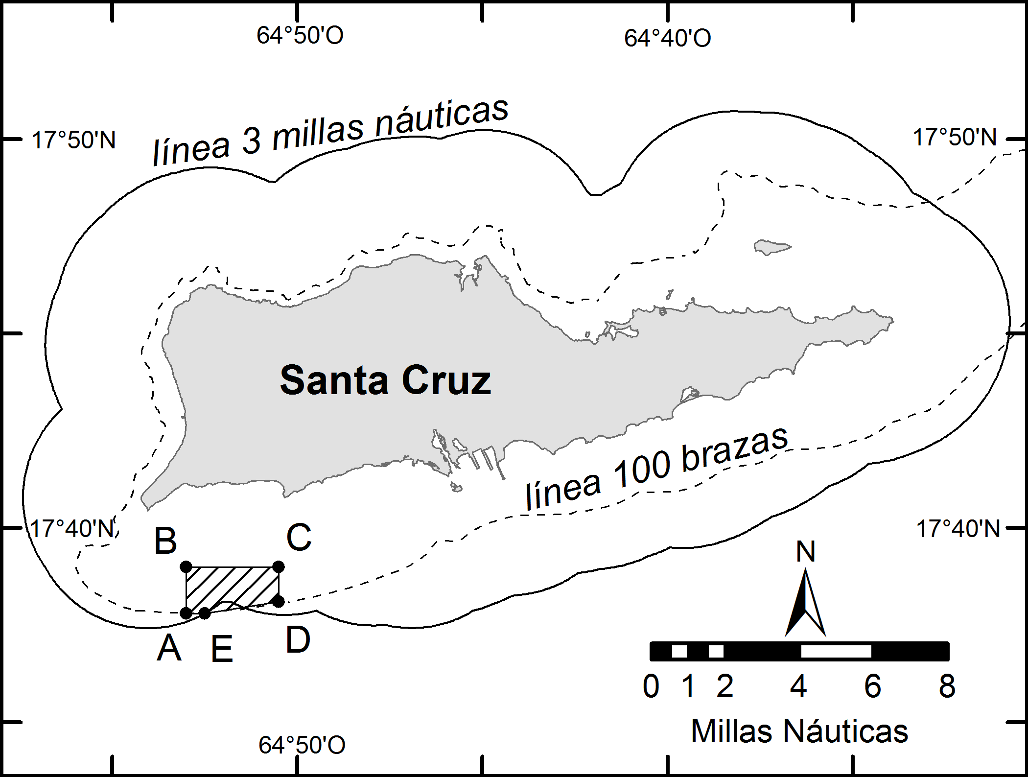 Mutton snapper spawning aggregation management area located south of St. Croix, U.S. Virgin Islands.
