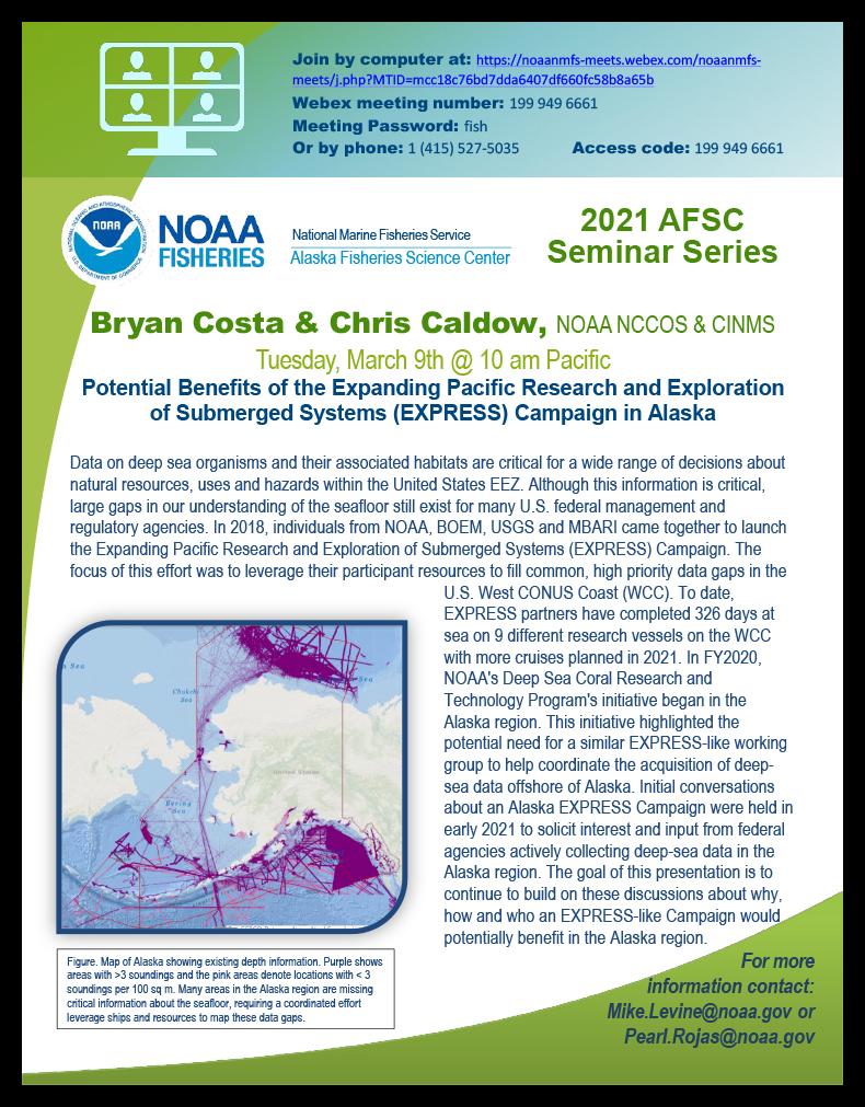 Bryan Costa & Chris Caldow AFSC 2021 Seminar poster