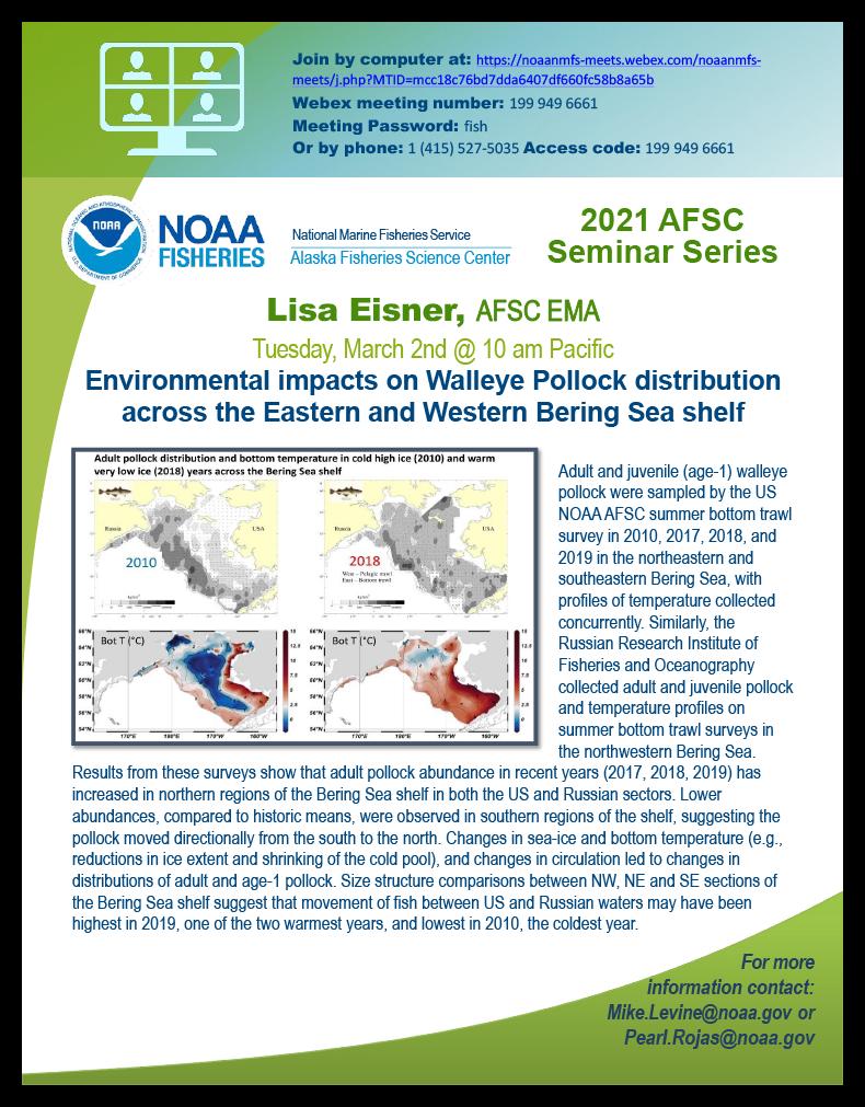 Lisa Eisner AFSC 2021 Seminar poster
