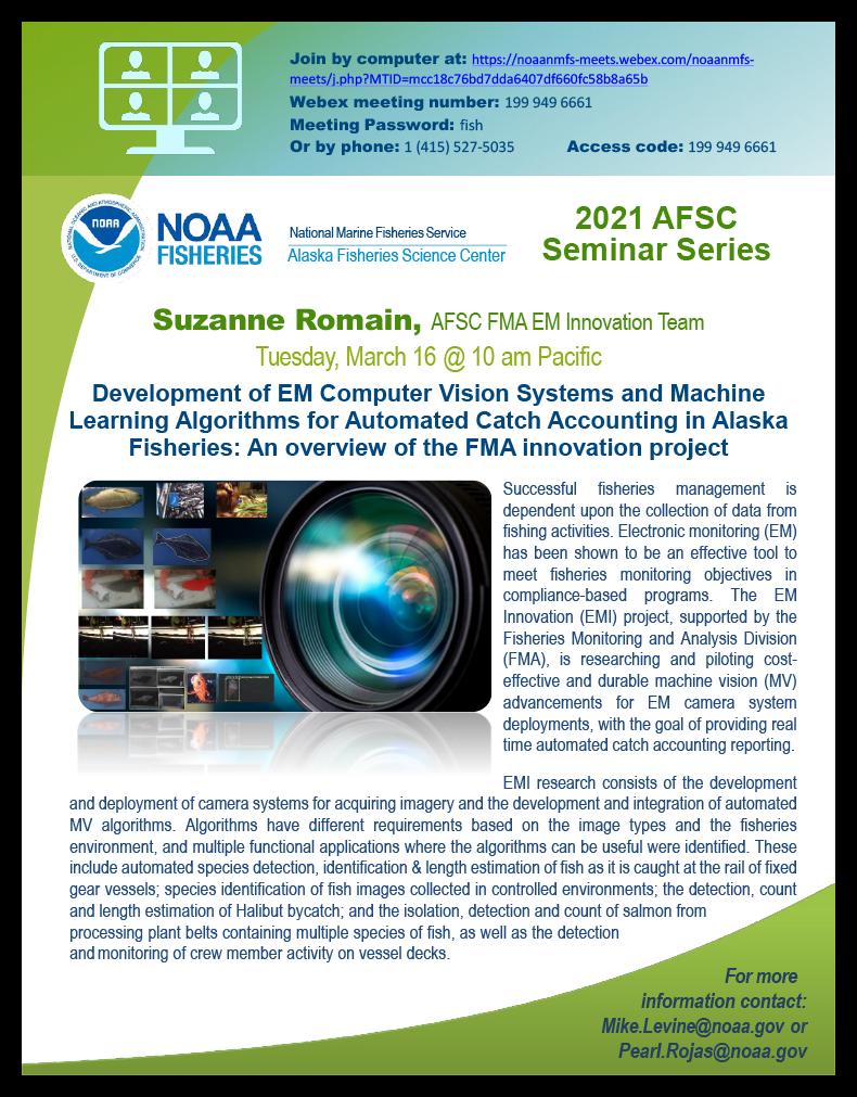 Suzanne Romain AFSC 2021 Seminar poster.
