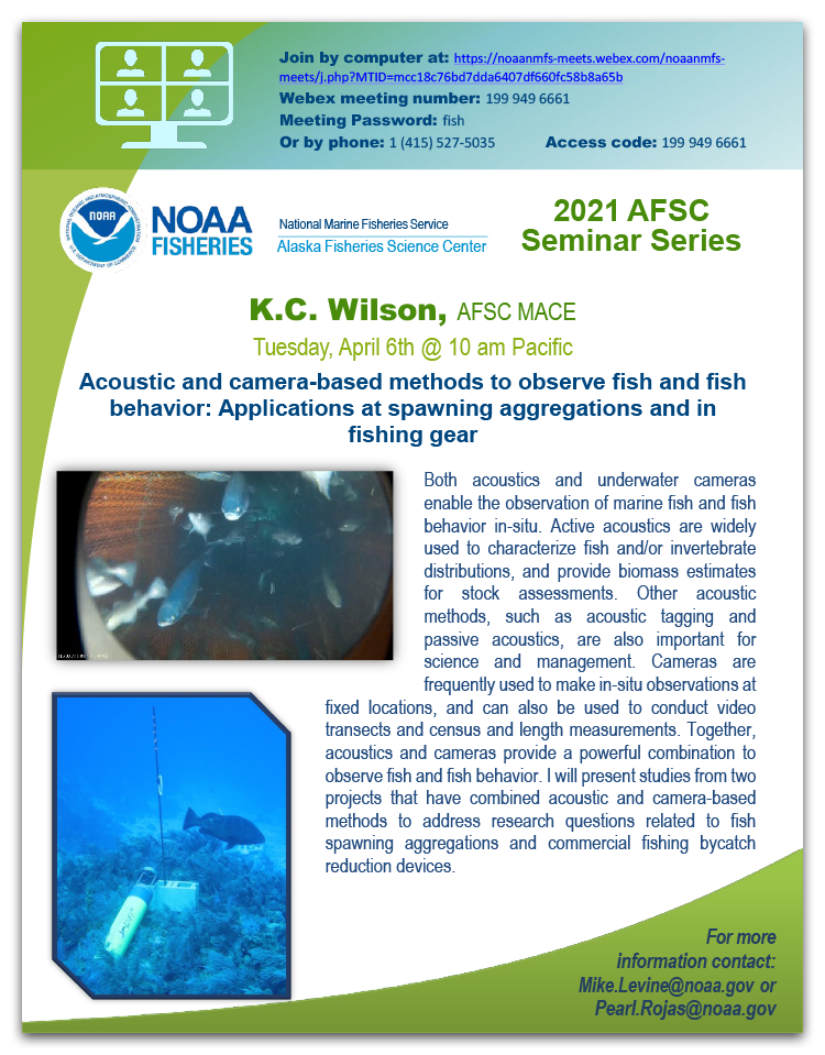 K.C. Wilson Alaska Fisheries Science Seminar Series event poster.