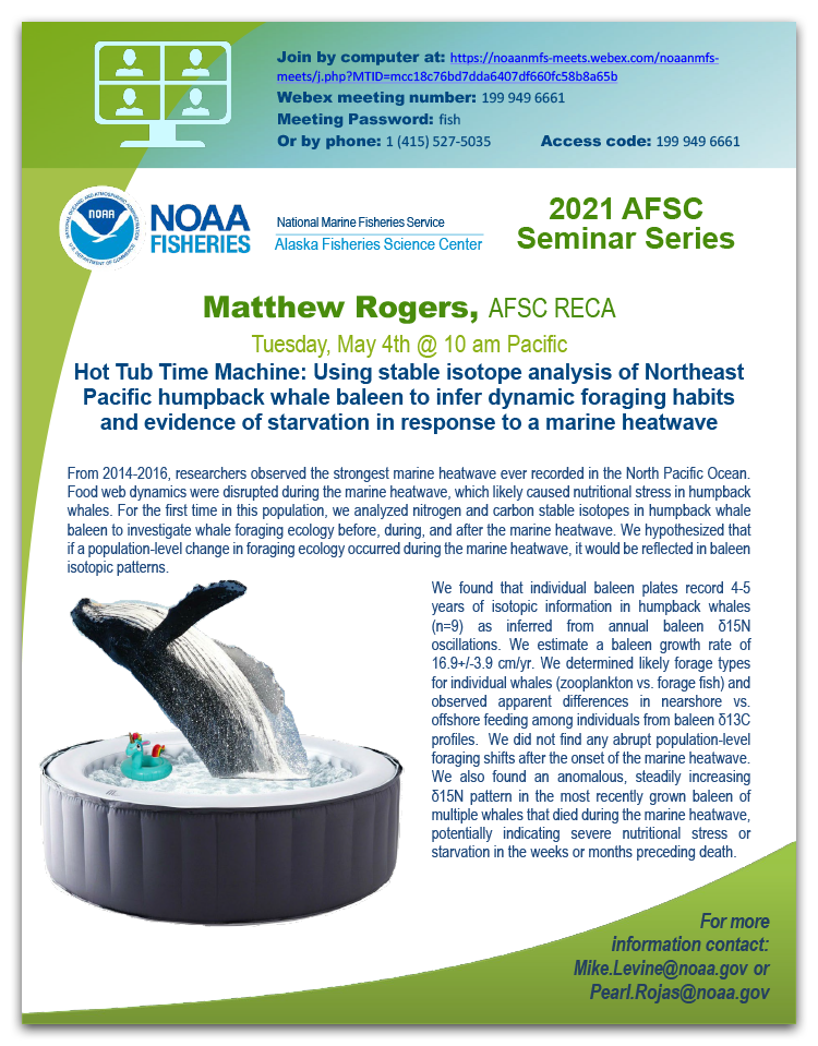 Matthew Rogers AFSC seminar event poster