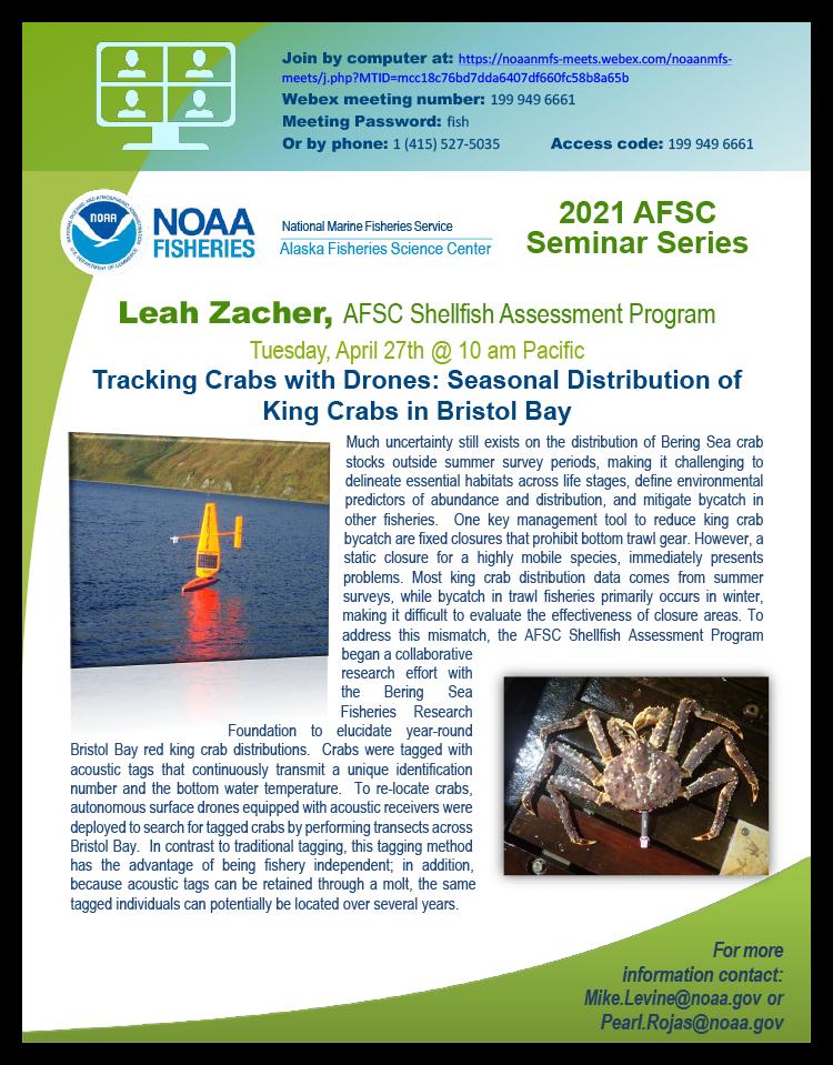 Leah Zacher AFSC seminar event poster