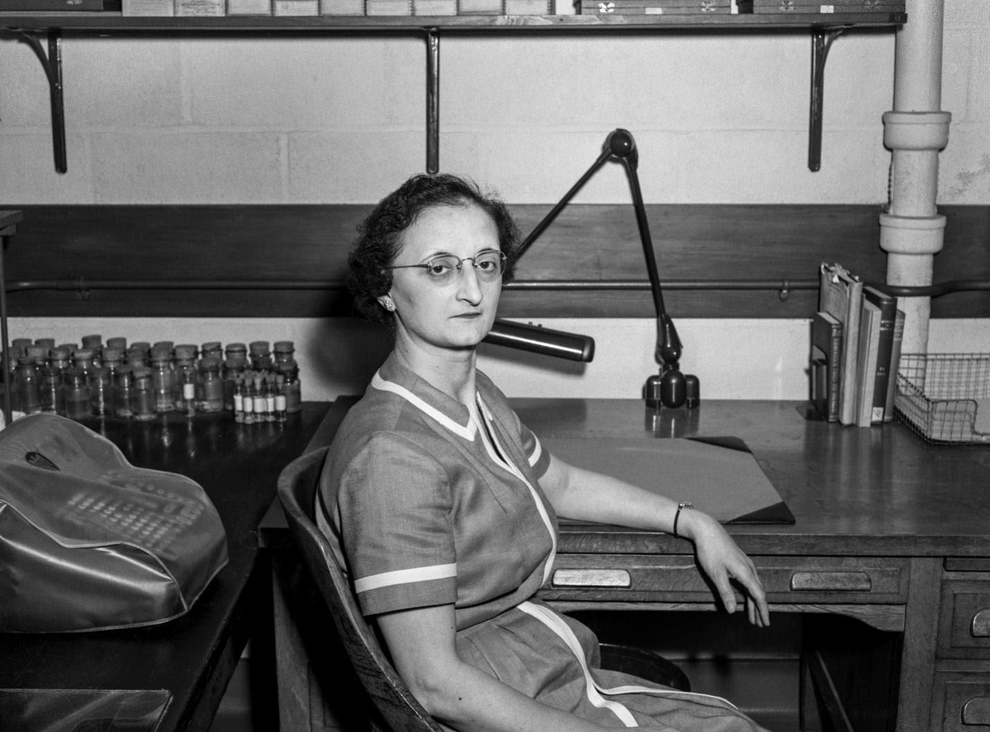 Rita Riccio at her desk.