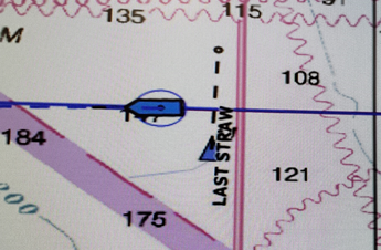 Map showing two boats near each other