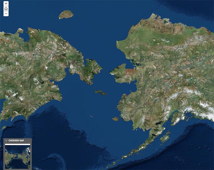 Steller sea lion research area map