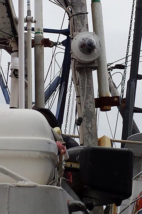 Video camera on fishing vessel