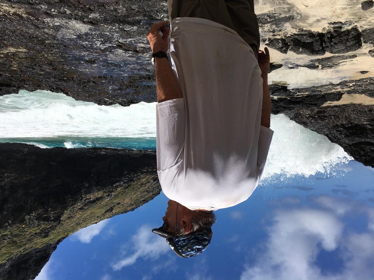 John Henderson ashore at Nihoa Island.