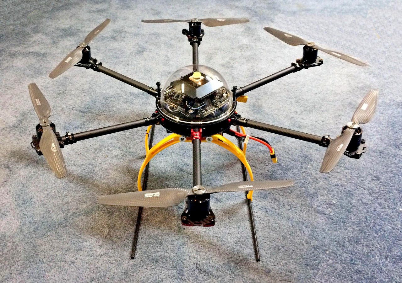 Aerial Imaging Solutions' hexacopter drone.