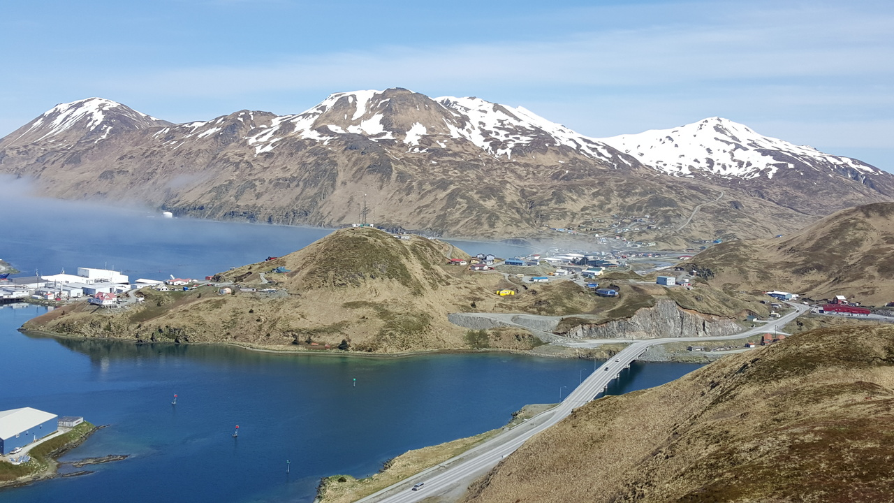 Dutch Harbor, Alaska, Facing East.