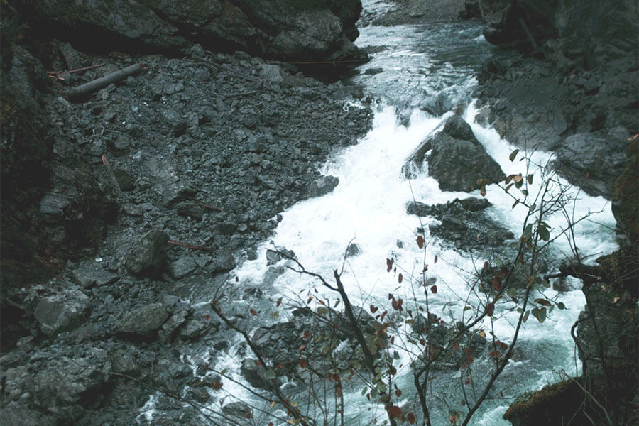 Historical photo of the Elwha River