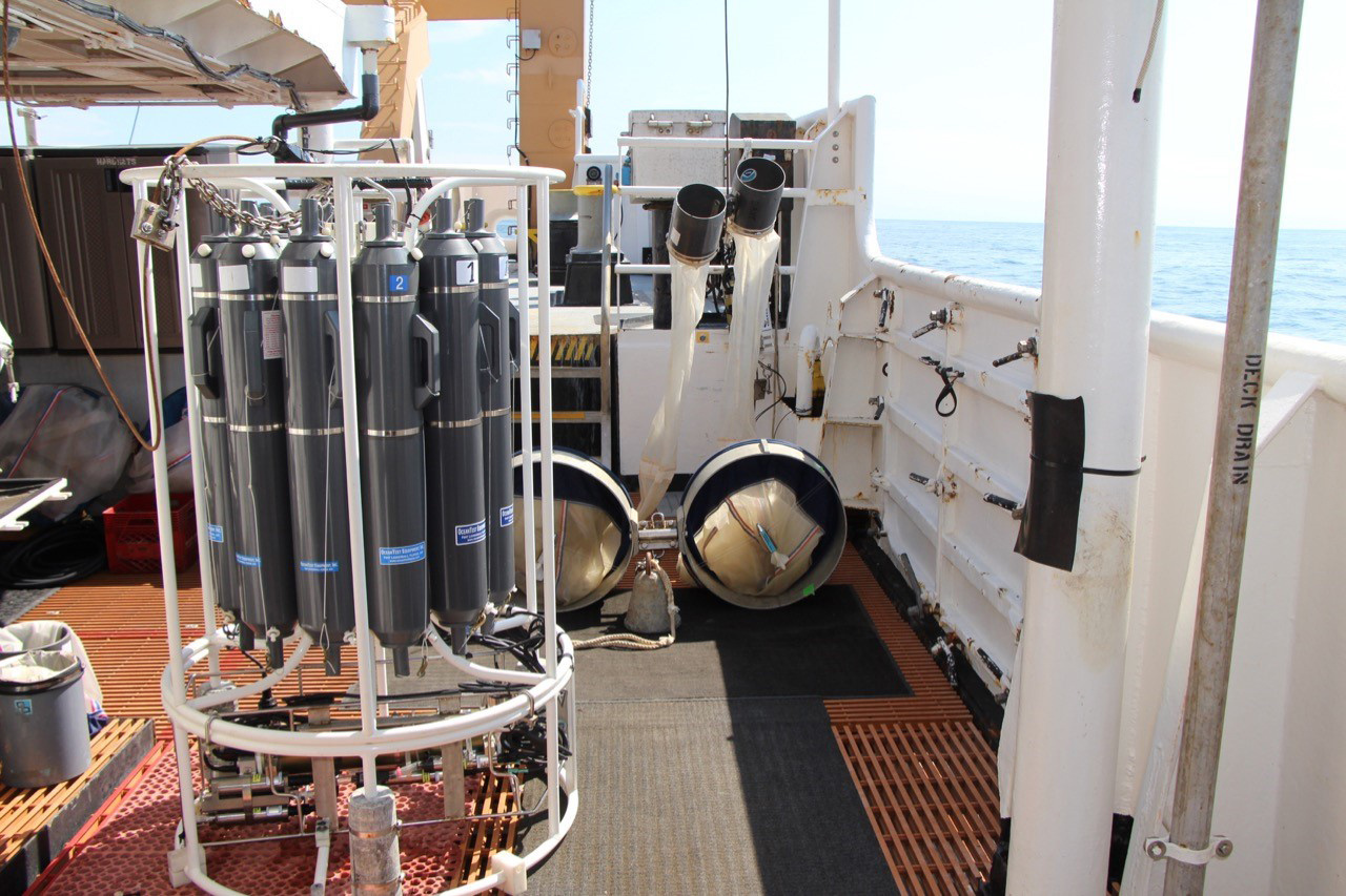 instruments on ship deck