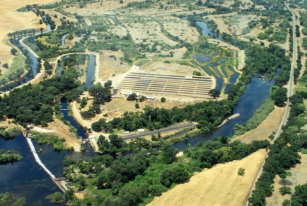 Aerial view of the Merced River Hatchery