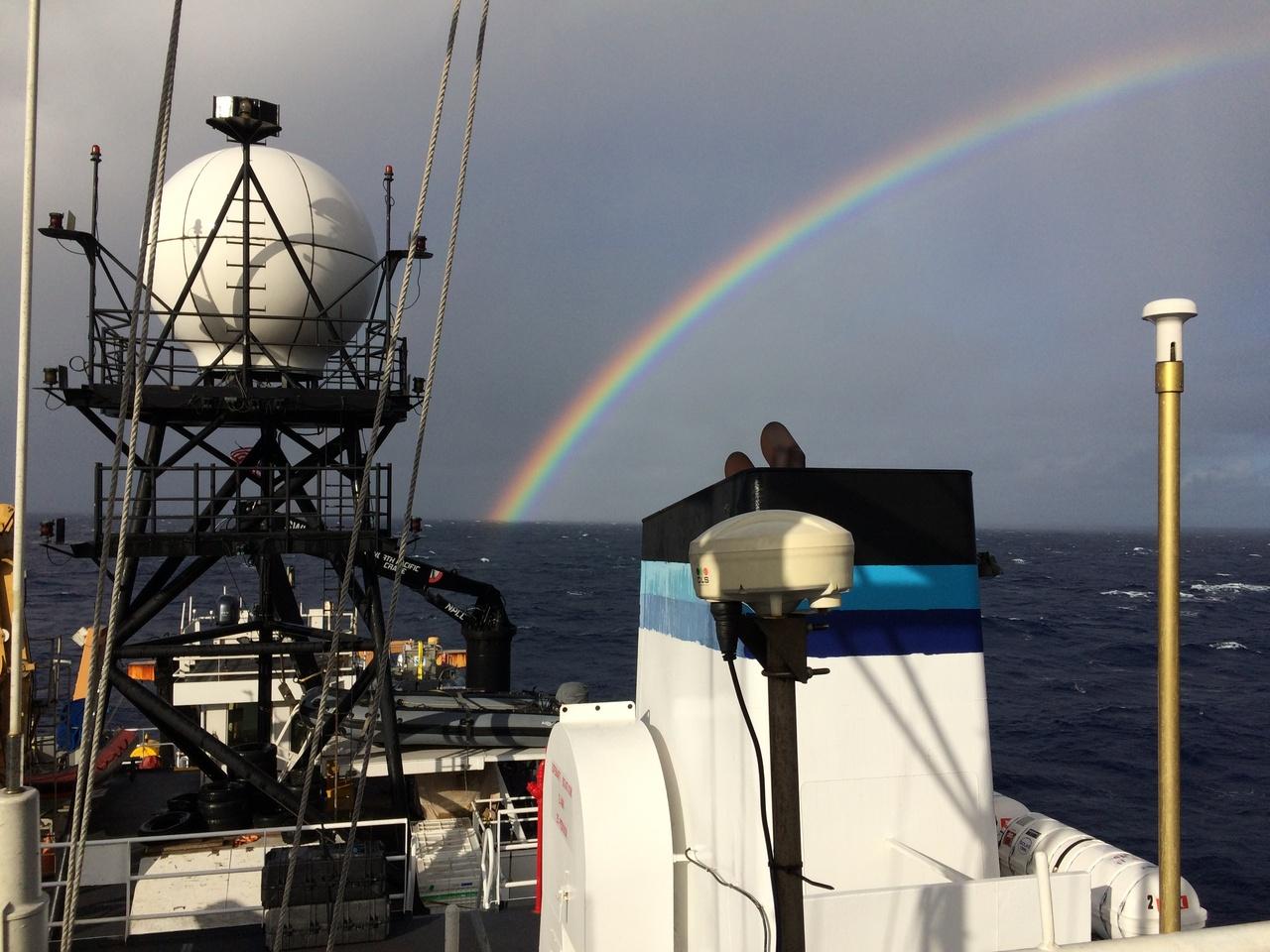 Beautiful Hawaiian rainbow after passing through a rain squall. Photo: NOAA Fisheries/Suzanne Yin.