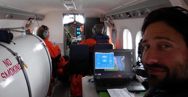 Steller sea lion aerial survey team
