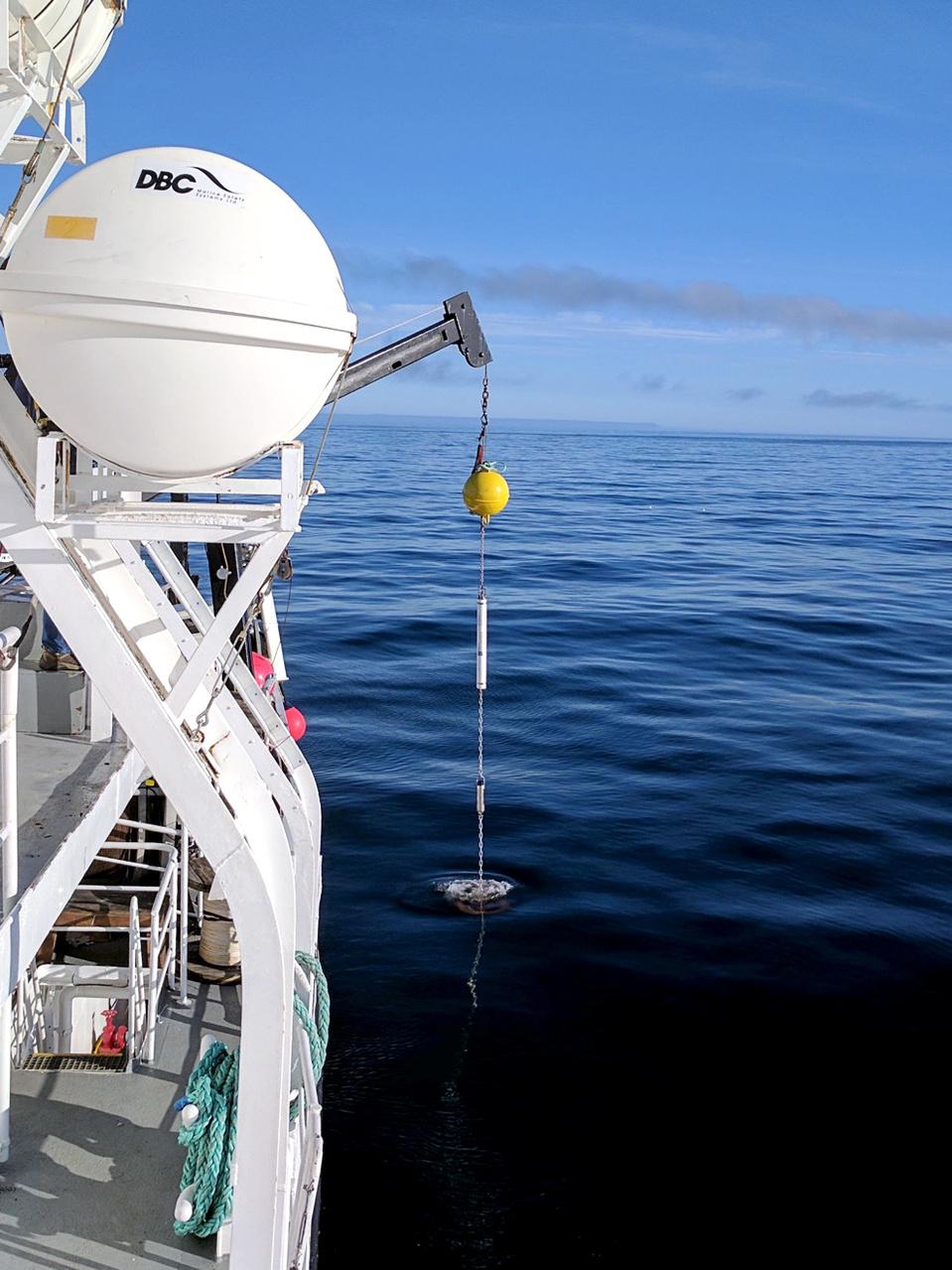 NOAA's Acoustic Studies Equipment, photo credit Robert Levine