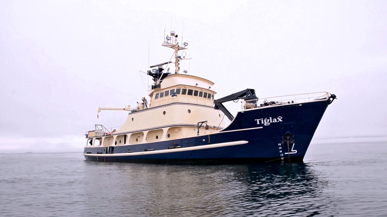 The U.S. Fish and Wildlife Service boatTiglax.