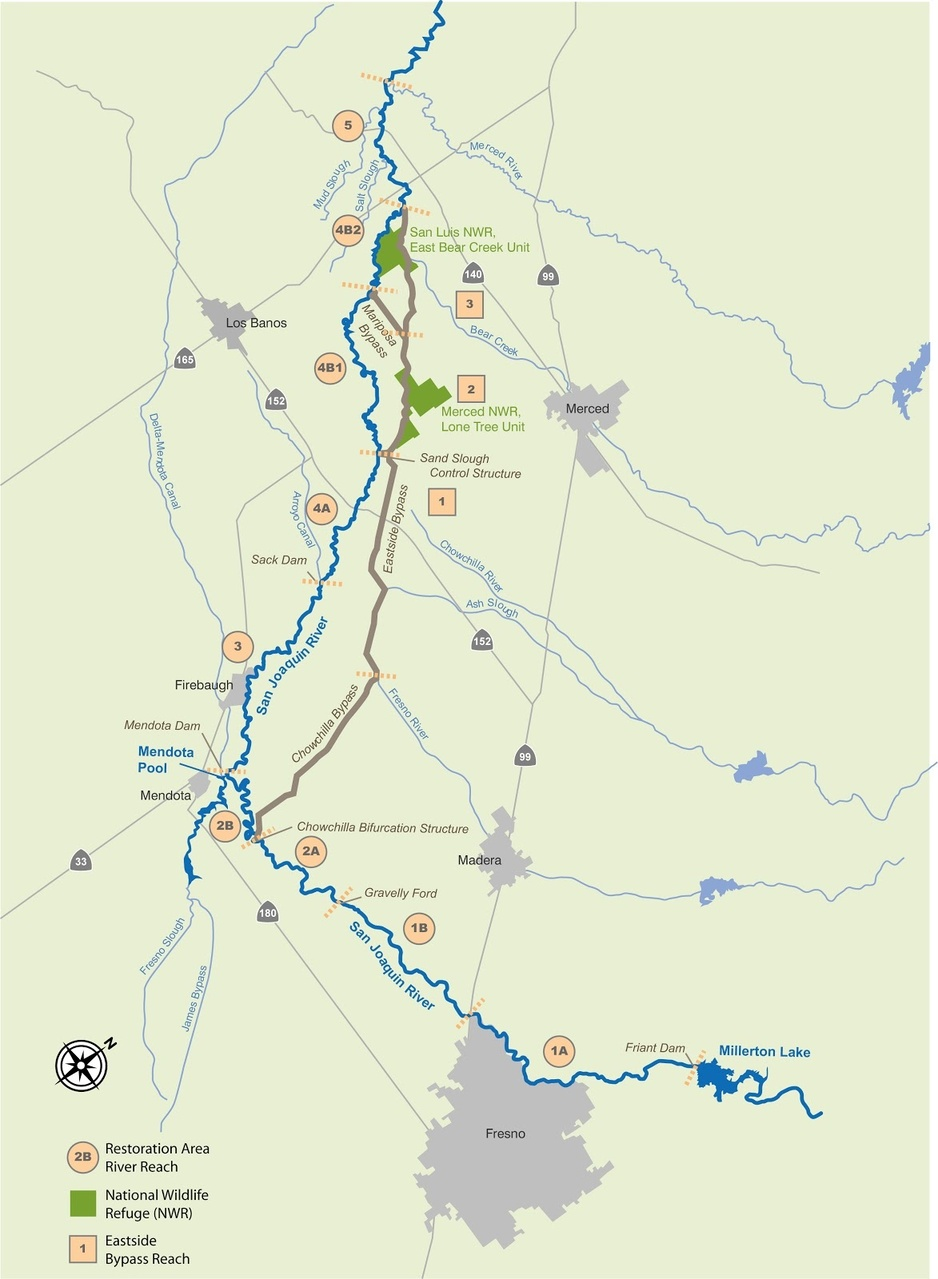 Map of SJRRP Restoration Area
