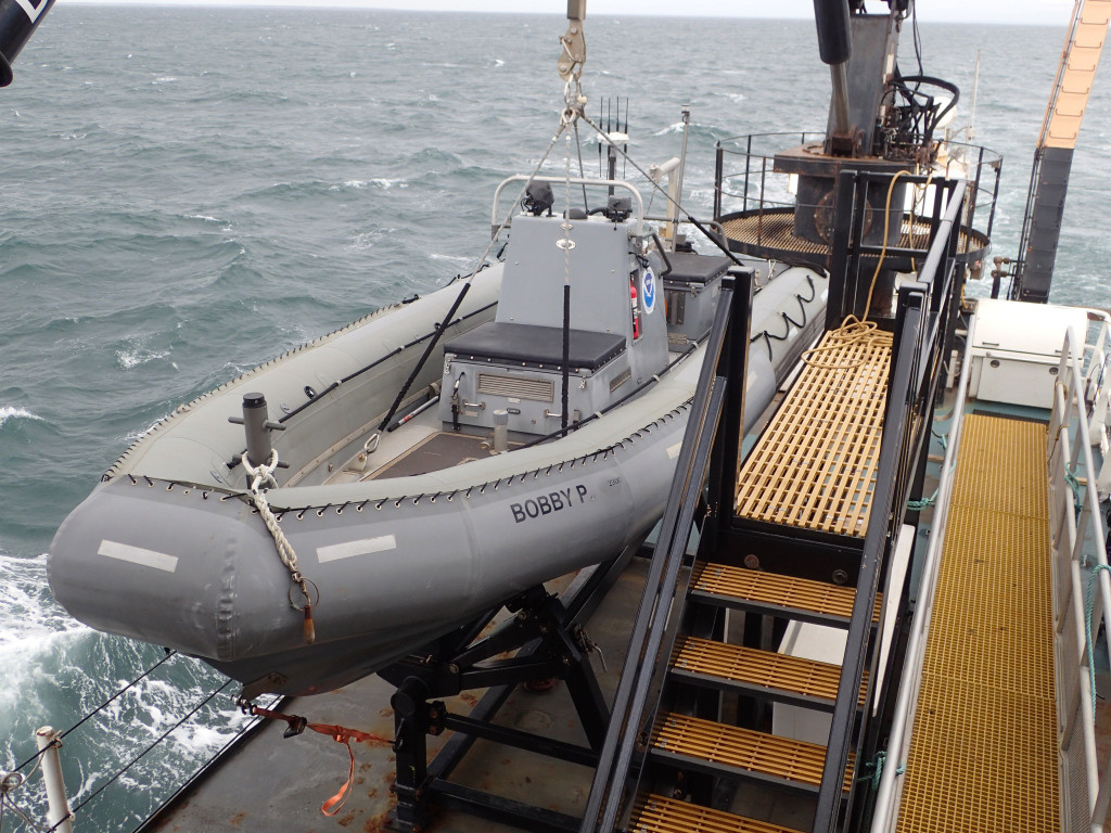 The Bobby P, a rigid-hulled inflatable boat.