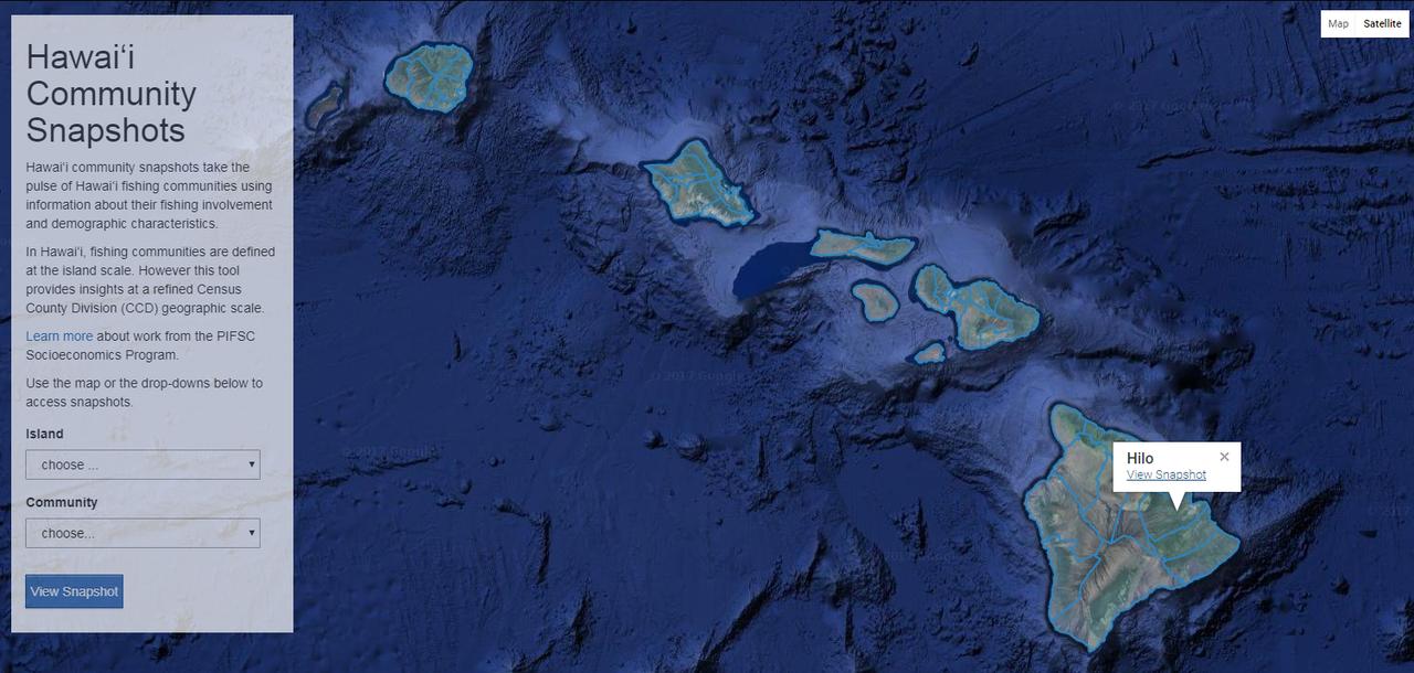 Hawaii Community Snapshots map