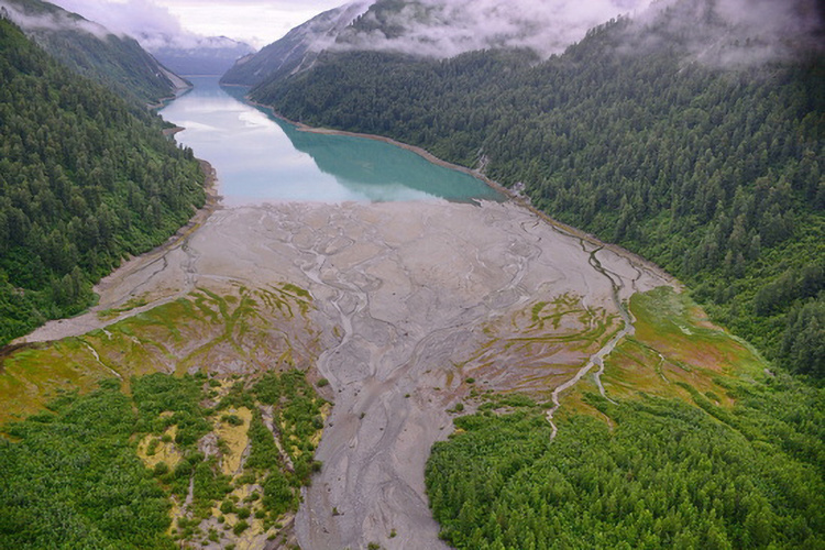A glacially fed inlet in the northern region, Glacier Bay National Park & Preserve