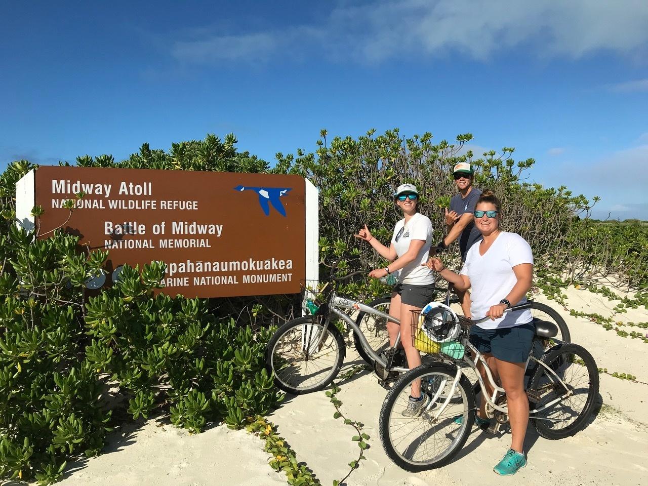 Biking on Midway