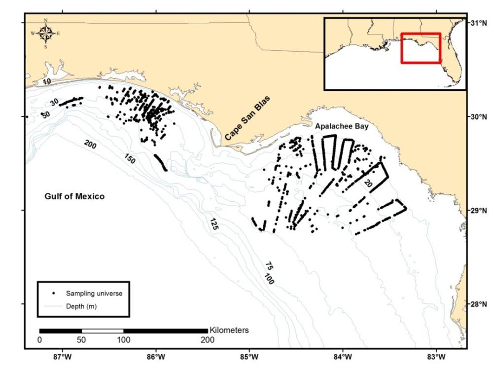 Florida habitat mapping sites