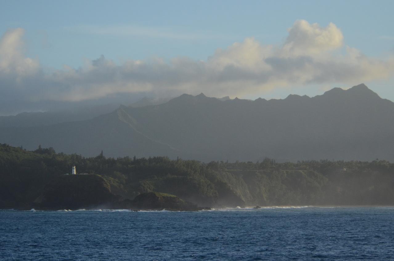 Kilauea Lighthouse, Kauai, as seen from the Oscar Elton Sette. Photo: NOAA Fisheries/Christopher Hoefer.