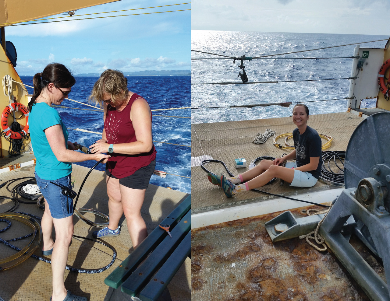 Towed acoustic hydrophone array repairs