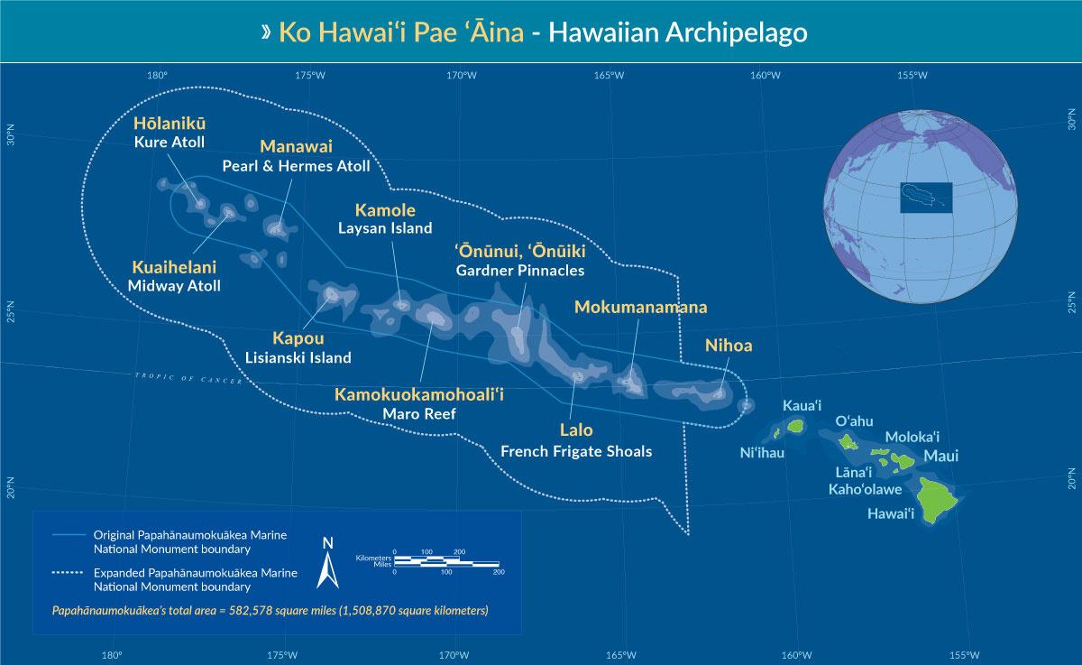 Map of Papahanaumokuakea with Hawaiian names.jpg