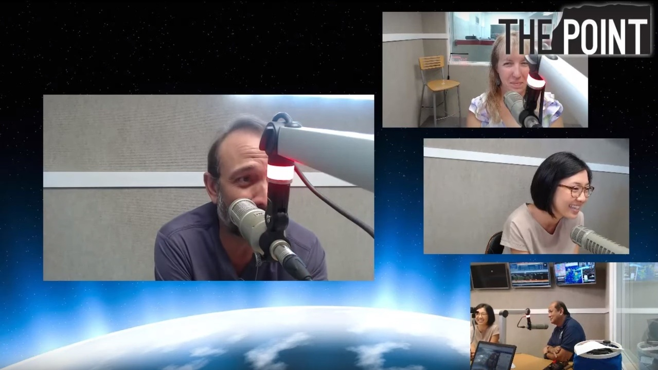 Interview with The Point's radio talk show host Ray Gibson (left) in Guam on September 26, 2019. I (middle) was interviewed about this study, along with Amy Vandehey (top) and Felix Reyes (bottom). Watch the whole interview on Ray Gibson's YouTube Channel..jpg