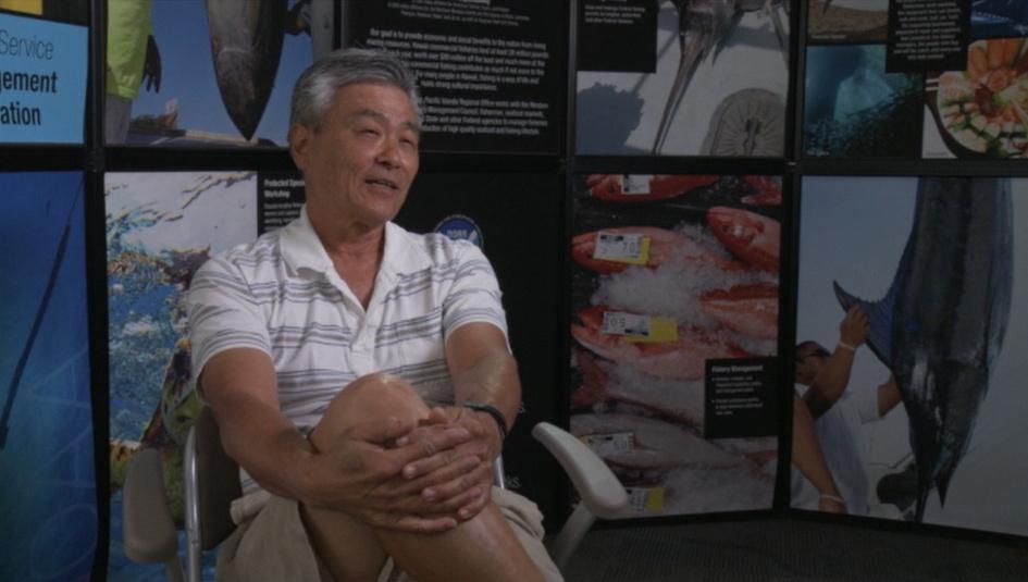 Kurt Kawamoto, NOAA Fish Biologist and key project partner who has fished for bottomfish in Hawaii for 40+ years