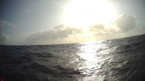 Sunset photo taken by saildrone