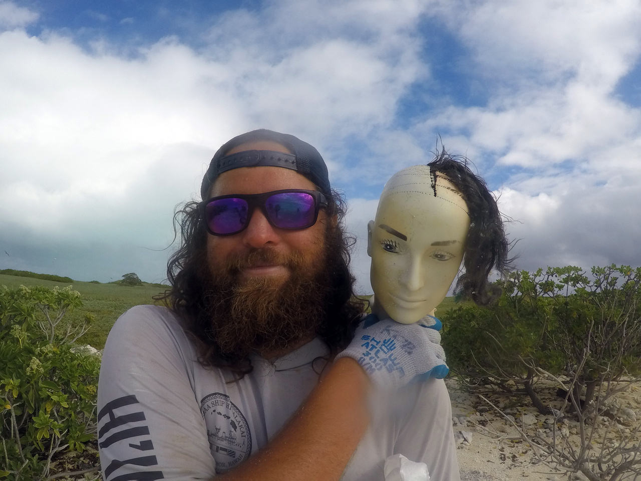 Mannequin head found on Eastern Island at Midway Atoll
