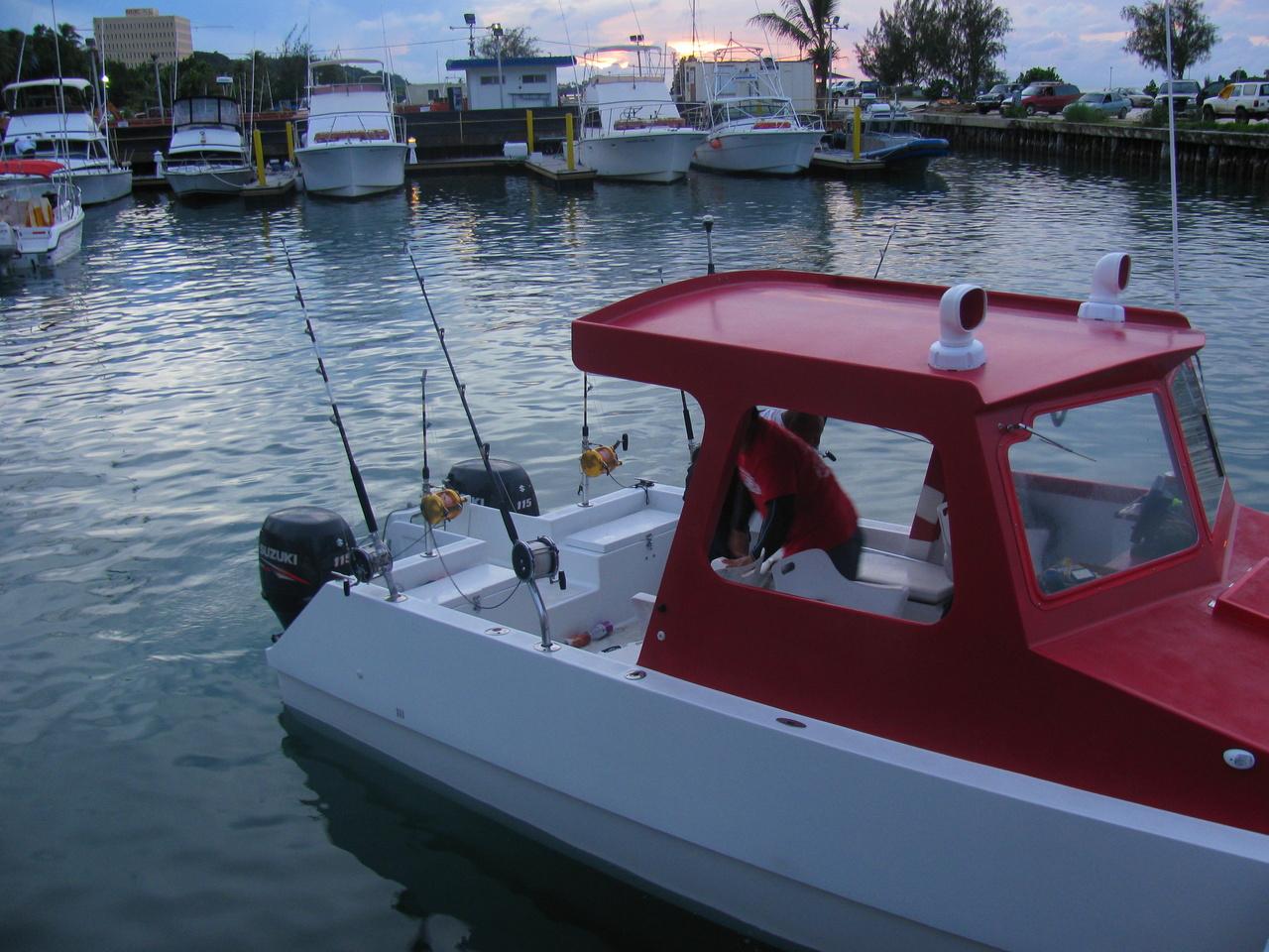 Fishing boat in the Agana Boat Basin, Guam. Photo: NOAA Fisheries/Justin Hospital.