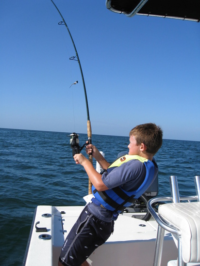 boy fishing gulf of Florida