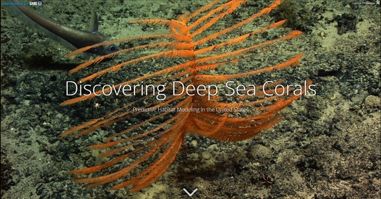 Deep-sea corals: Predictive Modeling Story Map Cover