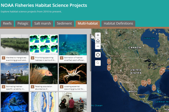 NOAA Fisheries Habitat Science Projects storymap.jpg