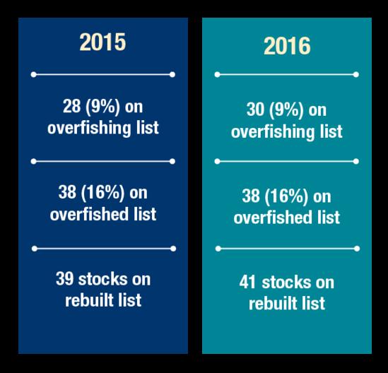 Status of Stocks statistics 2015 to 2016
