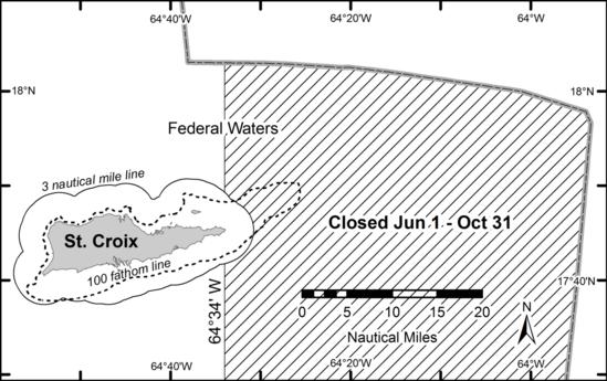 Figure 1 Queen conch closure area