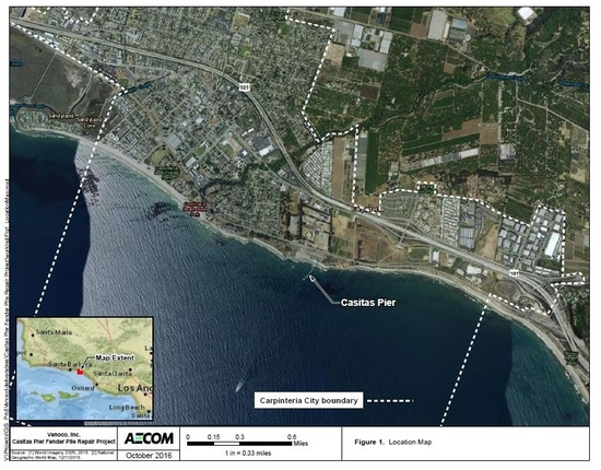Aerial image and map of project area