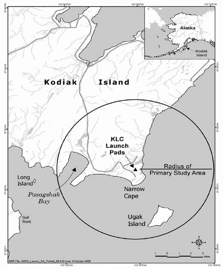 Alaska Aerospace_Kodiak vicinity map