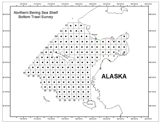 Station plan for sampling during the 2017 Northern Bering Sea survey.