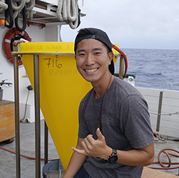 Photo of Max Lee aboard a ship