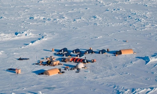 photo example of an ice camp