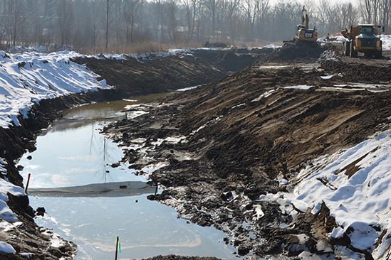 2019-03 GL portage creek alcott dam during new channel 704x469 Credit MDEQ.jpg