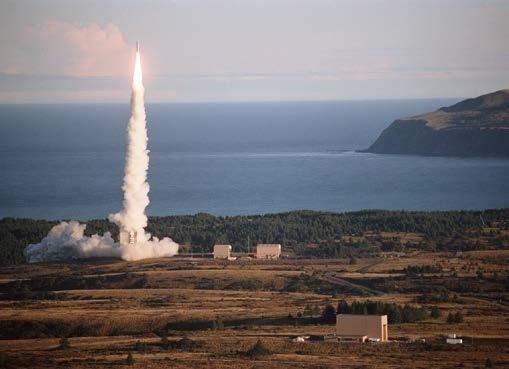 photo of rocket launch from Alask Aaerospace facility Kodiak, AK
